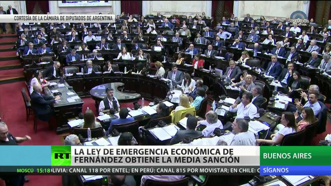 Argentina: La Ley de Emergencia Económica obtiene media sanción en la Cámara de Diputados