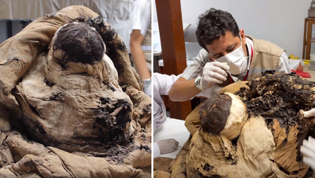 VIDEO: Abren un fardo funerario de la nobleza inca del complejo arqueológico peruano de Túcume