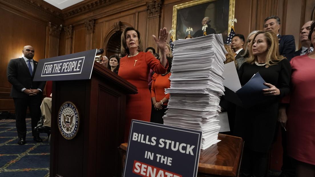 """Nancy Pelosi: """"Trump estará marcado por el 'impeachment' para siempre"""""""