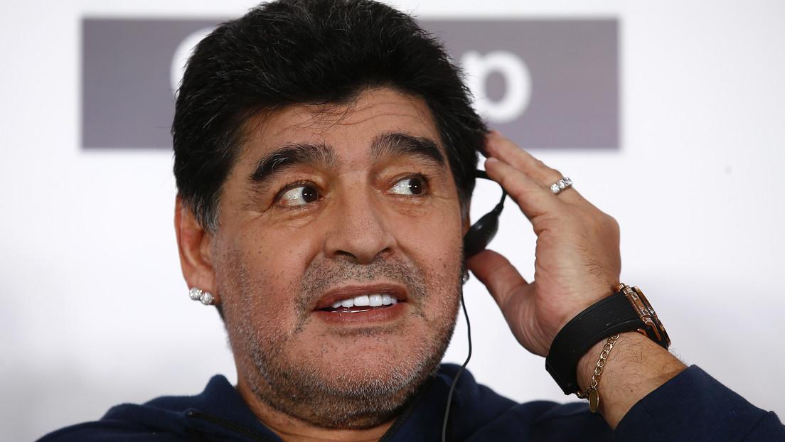 """""""Me llevaron los ovnis"""": Maradona bromea sobre su excusa tras ausentarse de casa tres días"""