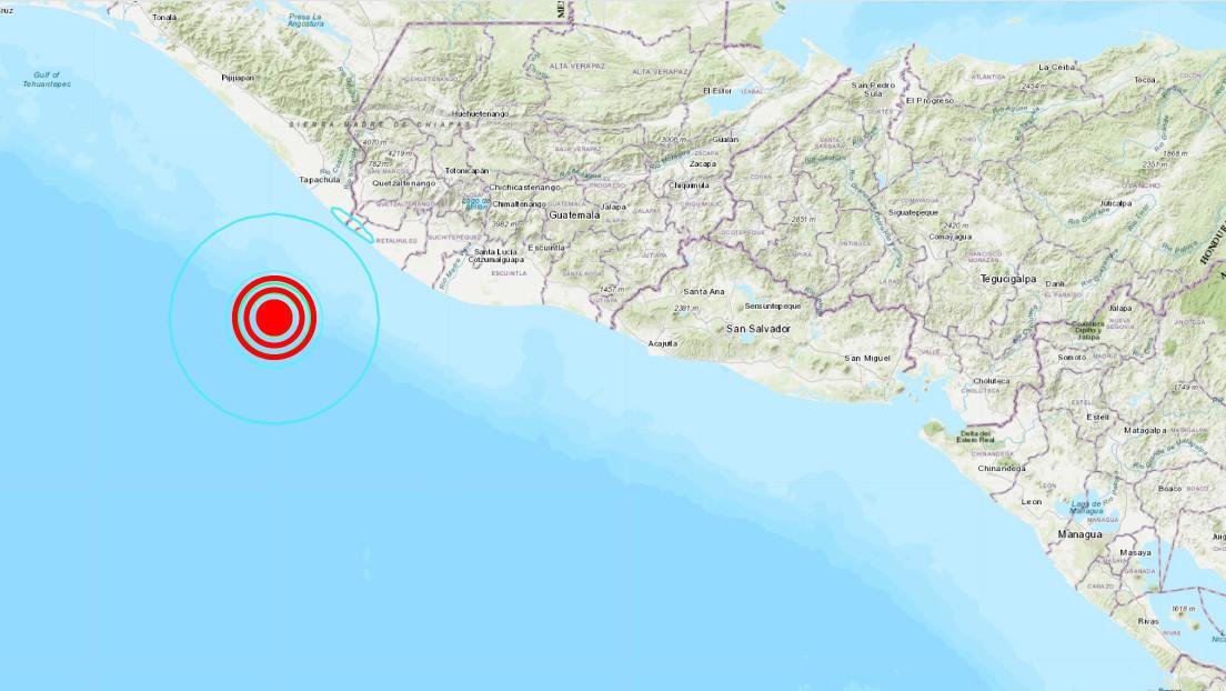 Se registra un sismo de magnitud 5,8 frente a las costas de Guatemala y México