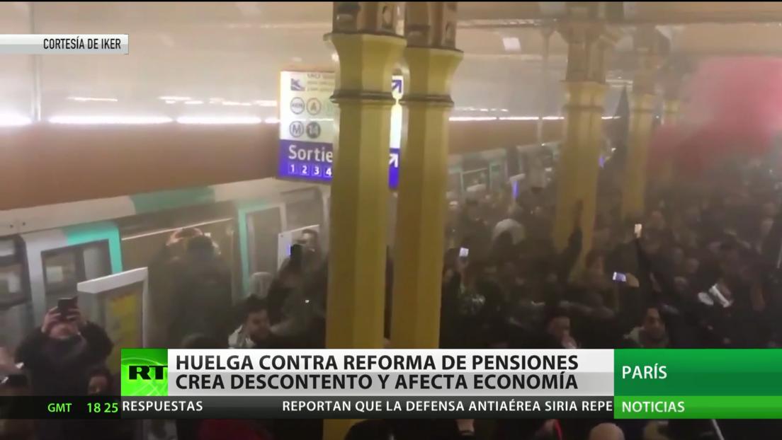 Francia: La huelga contra la reforma de pensiones crea descontento y afecta la economía