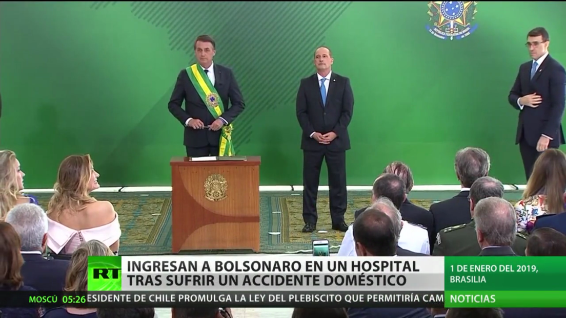 Ingresan a Bolsonaro en un hospital tras sufrir un accidente doméstico