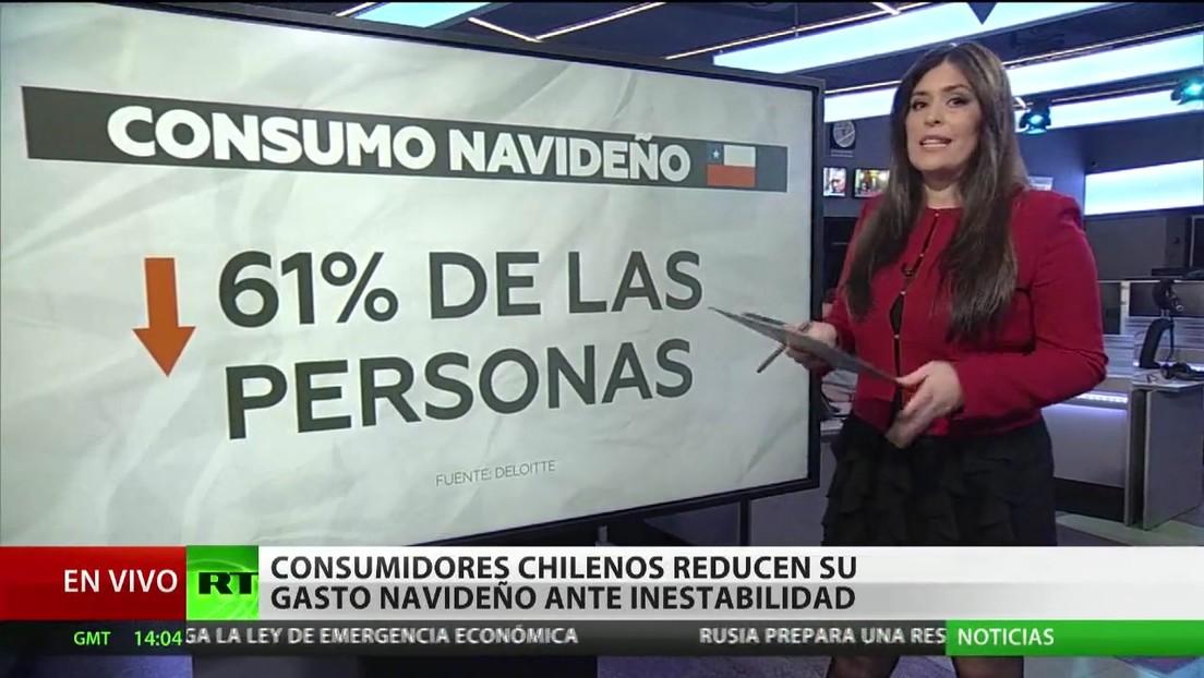 Consumidores chilenos reducen su gasto navideño ante la inestabilidad