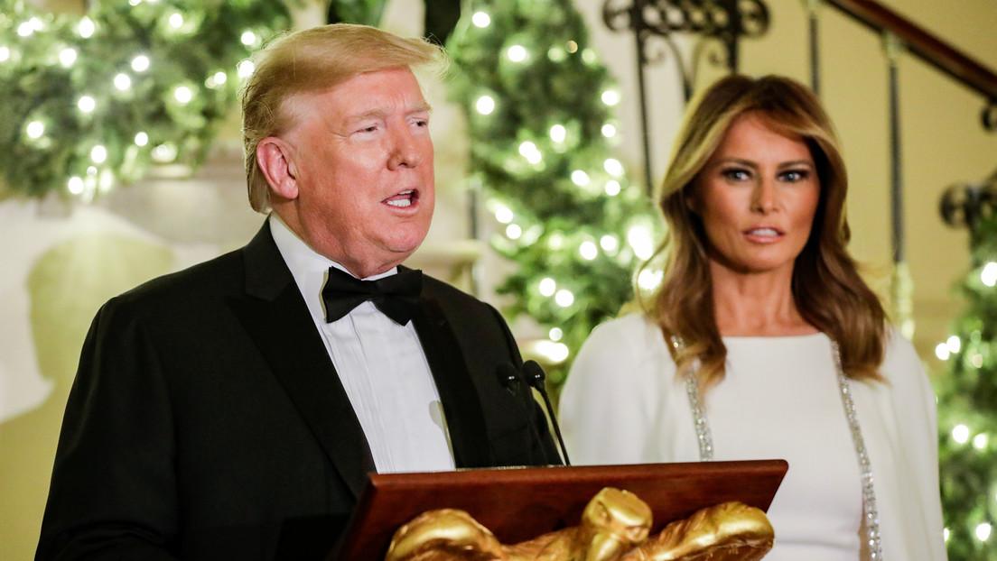 Trump confiesa que aún no sabe qué regalarle a Melania para Navidad y bromea sobre el 'regalo' que podría hacerle Kim