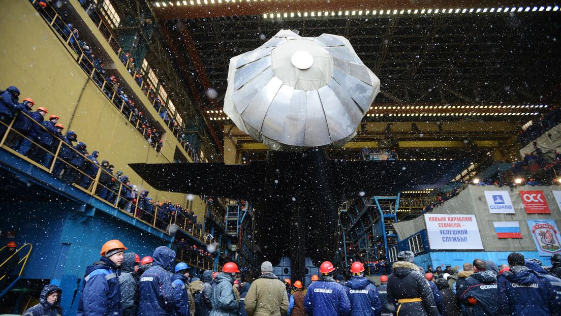 VIDEO: Rusia bota un submarino de ataque de propulsión nuclear del proyecto más avanzado de la historia naval del país