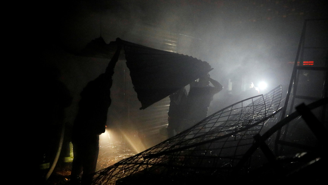 Se declara un fuerte incendio en un mercado de la Ciudad de México