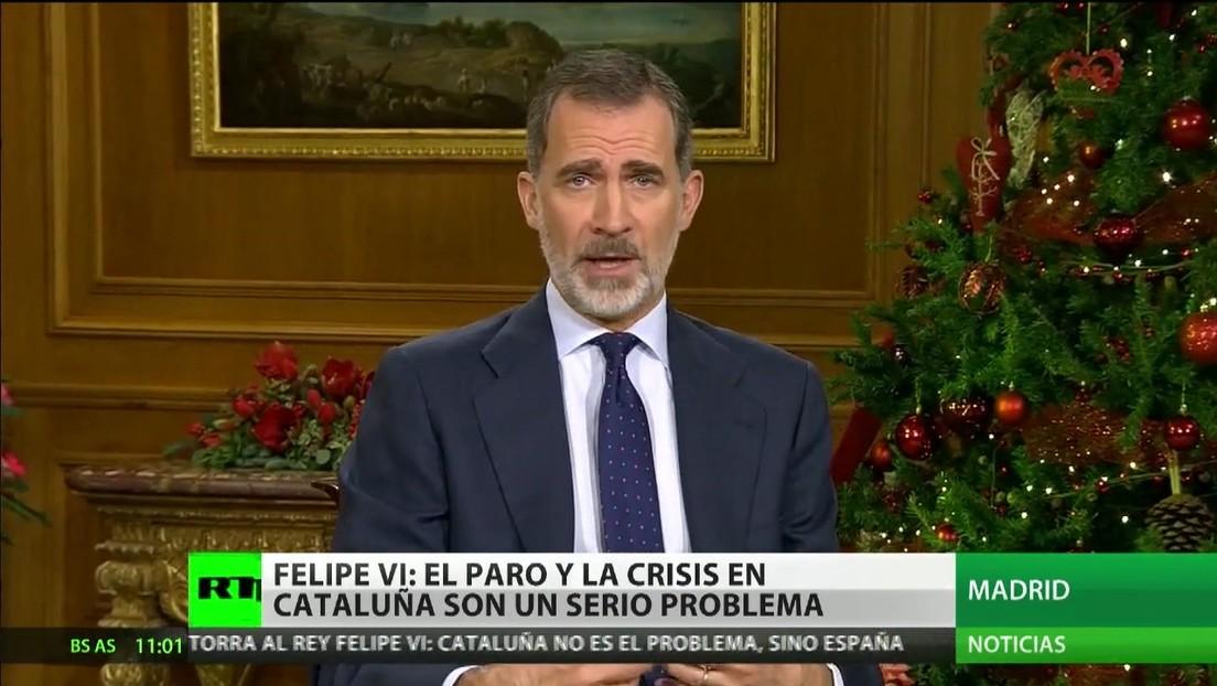 El rey de España ofrece un discurso de Nochebuena