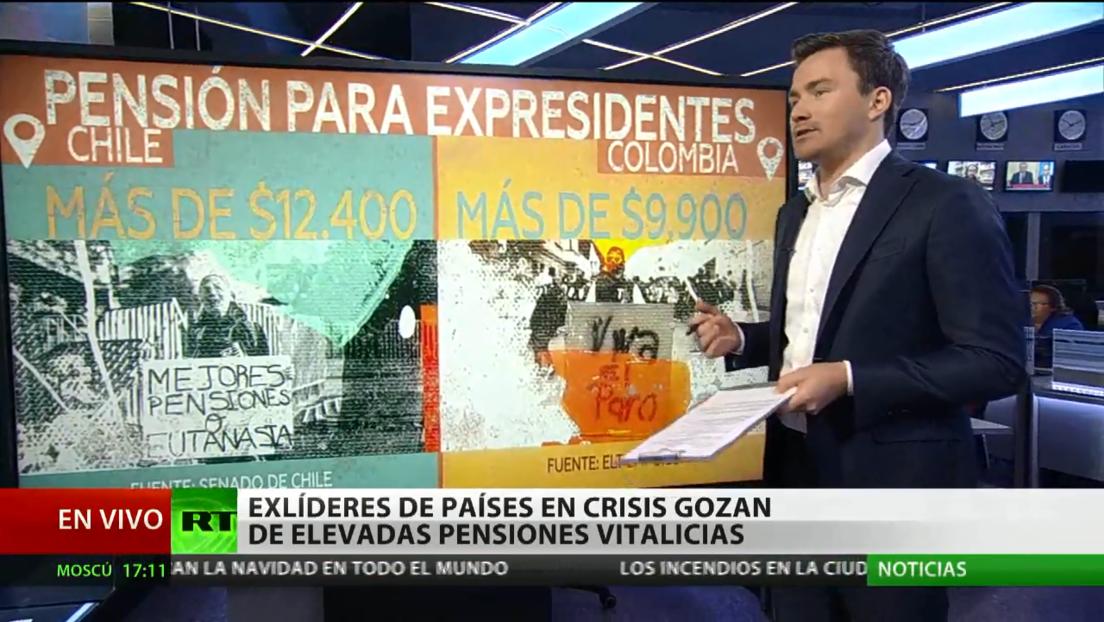 Exlíderes de países latinoamericanos en crisis gozan de elevadas pensiones vitalicias