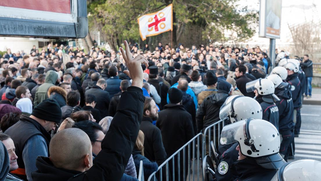 VIDEO: Diputados de Montenegro se pelean por una polémica ley religiosa