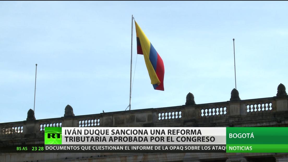 Iván Duque sanciona la polémica reforma tributaria aprobada por el Congreso
