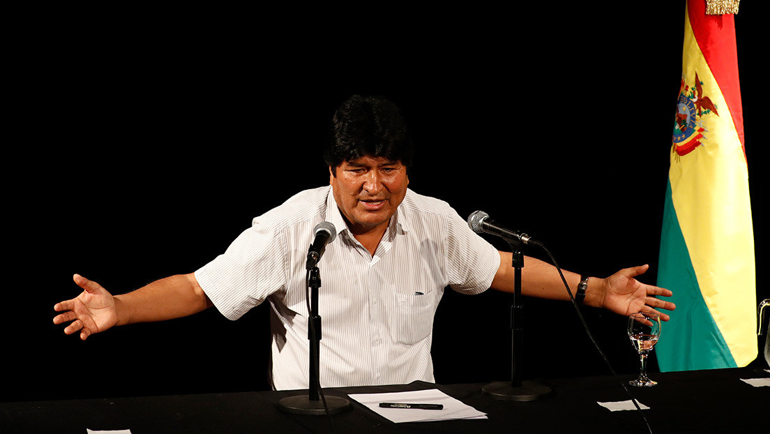 """Evo Morales: El papel de EE.UU. es """"tan evidente en el golpe de Estado en Bolivia"""" que su Embajada en Argentina """"habla por los golpistas"""""""
