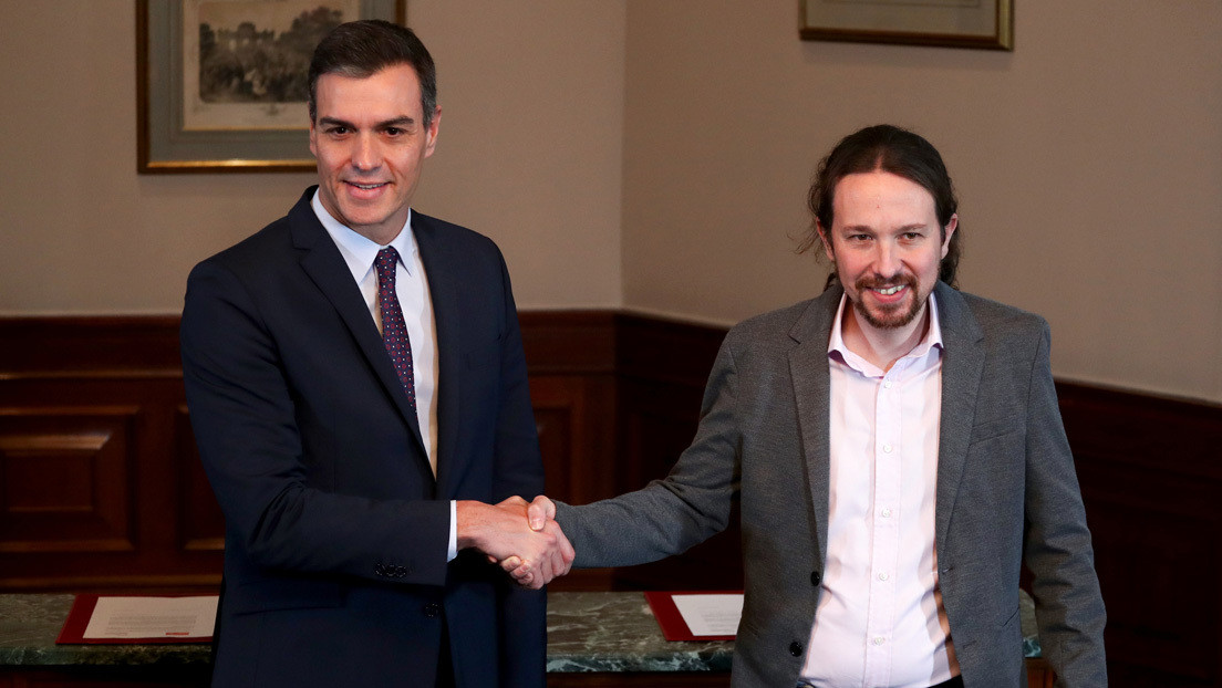 Sánchez e Iglesias presentarán el programa de gobierno de coalición en el Congreso español