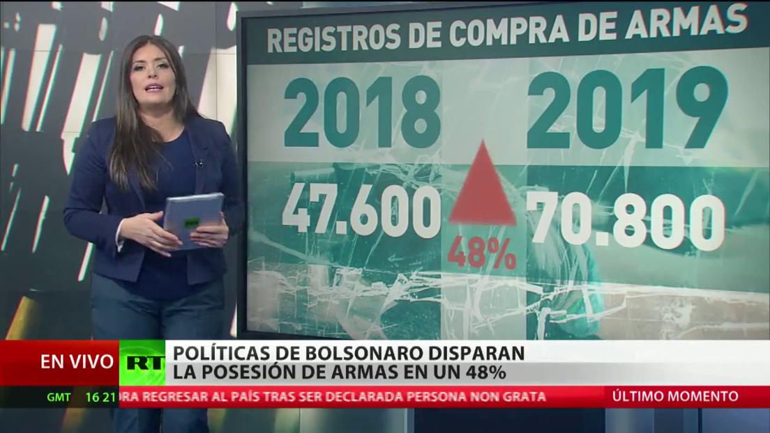 Bolsonaro pide al Congreso que  apruebe la ampliación del derecho a la posesión de armas para la ciudadanía