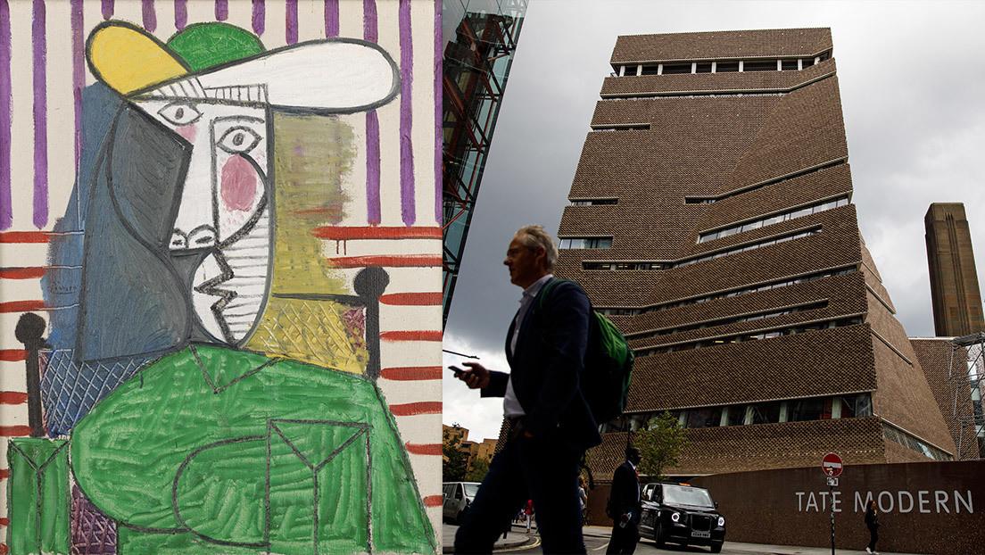Rasgan una millonaria pintura de Picasso en una galería de Londres