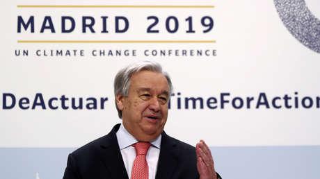 """El secretario general de la ONU: """"Nuestra guerra contra la naturaleza debe detenerse"""""""