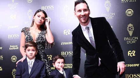 VIDEO: La adorable reacción de un hijo de Messi al escuchar que su padre es el ganador del Balón de Oro