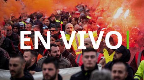 EN VIVO: Disturbios en París durante la huelga nacional contra la reforma de las pensiones que paraliza Francia