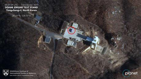 Esta imagen satelital sugiere que Corea del Norte renueva su actividad en un sitio de pruebas anteriormente desmantelado