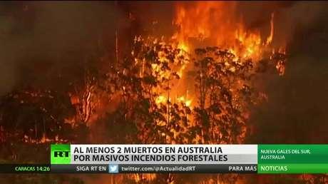 Al menos dos muertos en Australia por los grandes incendios forestales