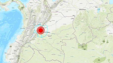 Cuatro terremotos, dos con magnitudes superiores a 5,5, sacuden Colombia en 15 minutos