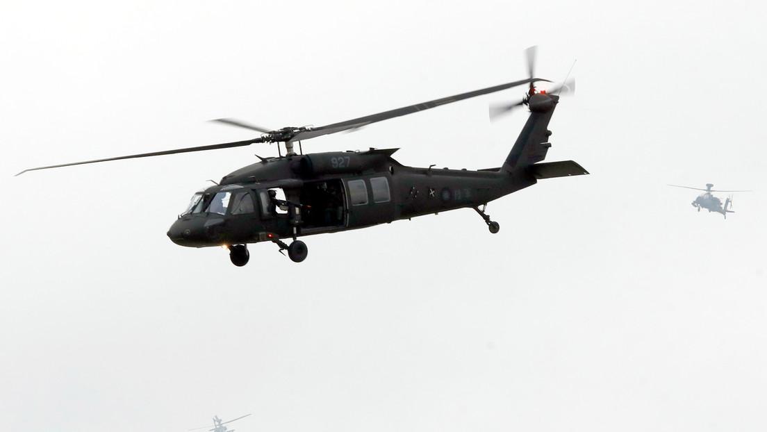 Ocho muertos, entre ellos el jefe del Estado Mayor de Taiwán, en el aterrizaje forzoso de un helicóptero que transportaba a importantes militares