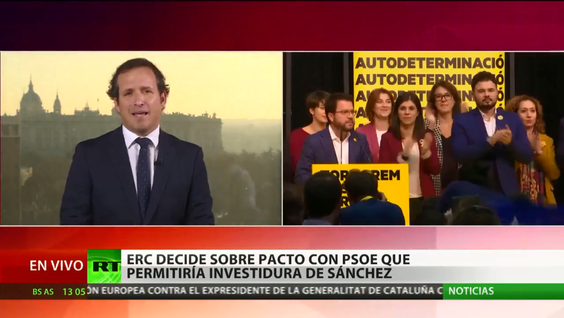 Esquerra Republicana decide sobre pacto con PSOE que permitiría la investidura de Pedro Sánchez en España