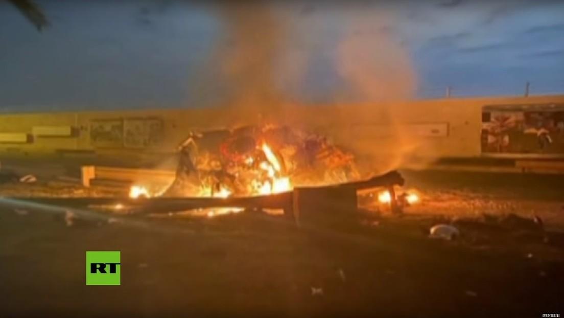 VIDEO: Las consecuencias del ataque de EE.UU. en Bagdad que acabó con la vida del general iraní Soleimani