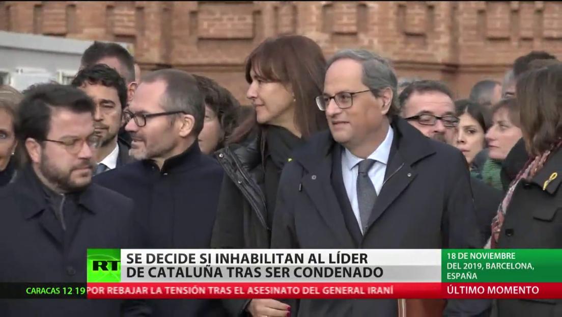 En España se decide si inhabilitan al líder de Cataluña, Quim Torra, tras ser condenado por un delito de desobediencia