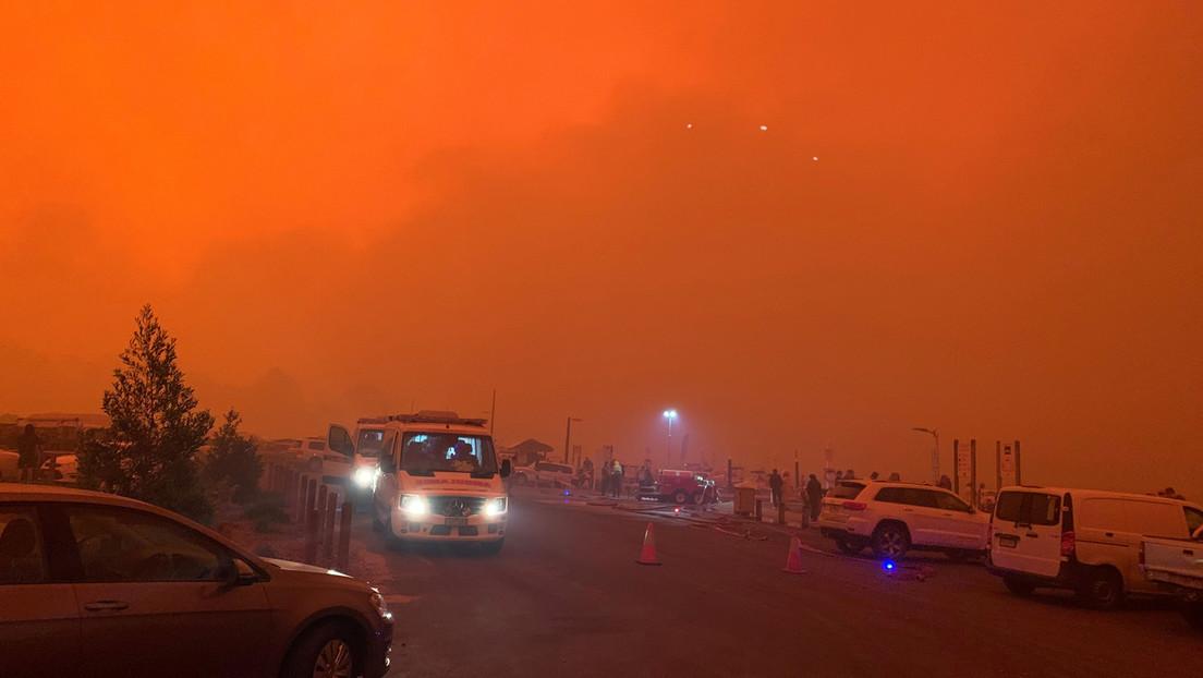 VIDEO: La dura 'batalla' entre una mujer con una manguera y el incendio forestal que 'devora' su casa en Australia, grabada en primera persona