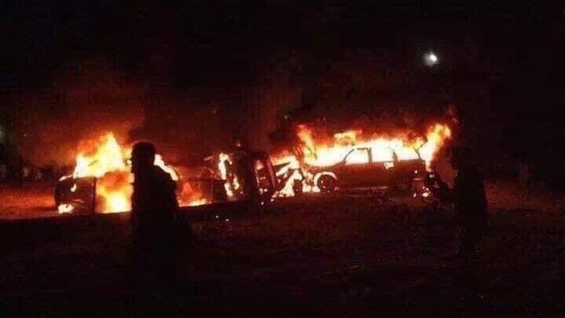 Reportan un nuevo ataque aéreo a un convoy de una milicia chiita cerca de Bagdad