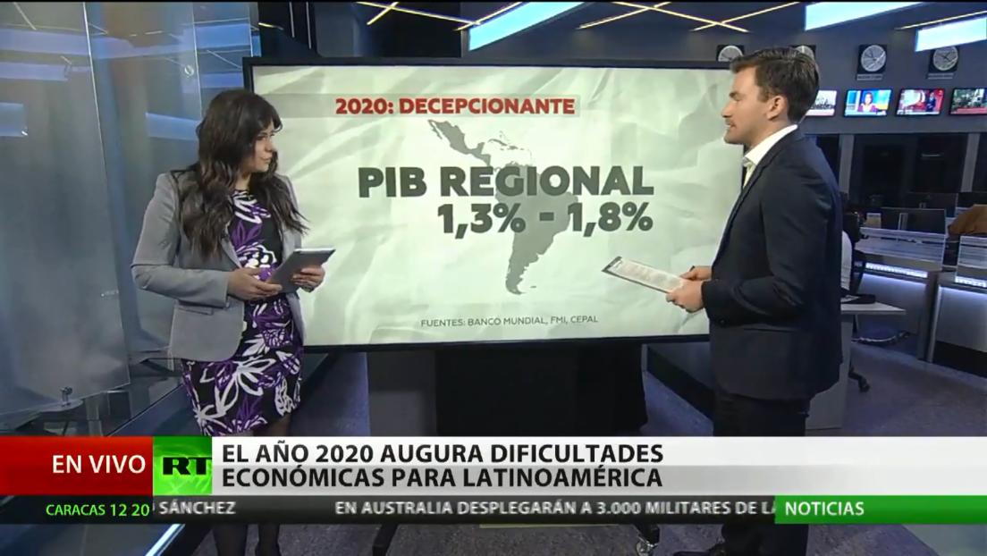 El año 2020 augura dificultades económicas para Latinoamérica