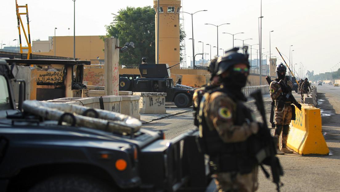Explosiones y caída de misiles en Bagdad en el área donde se ubica la Embajada de EE.UU.