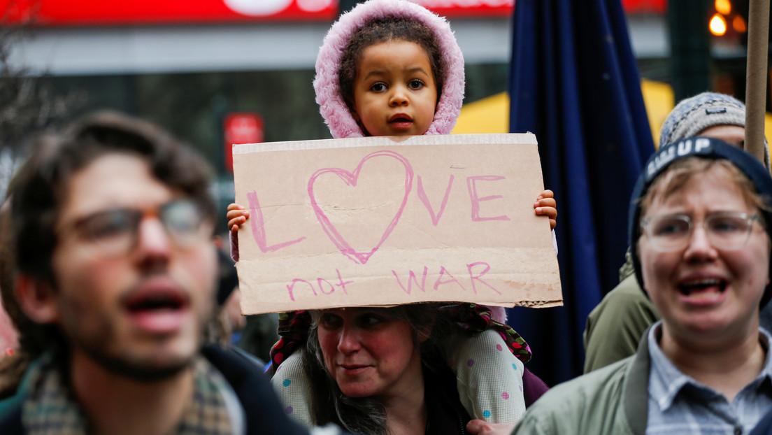 FOTOS, VIDEOS: Manifestaciones en EE.UU. contra la escalada del conflicto en Oriente Medio