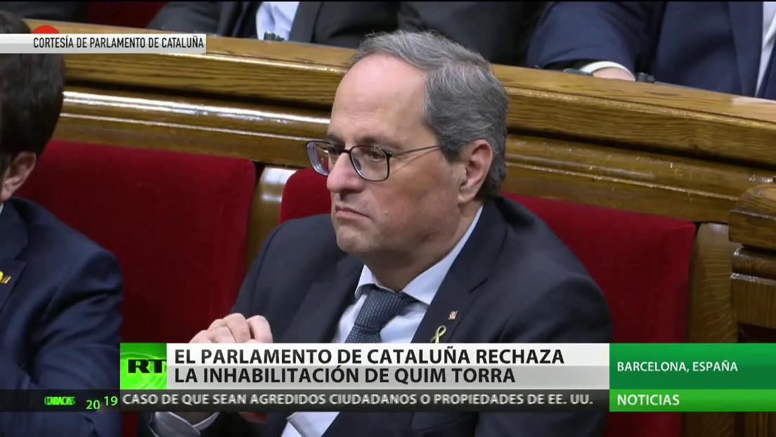 El Parlamento de Cataluña rechaza la inhabilitación de Quim Torra