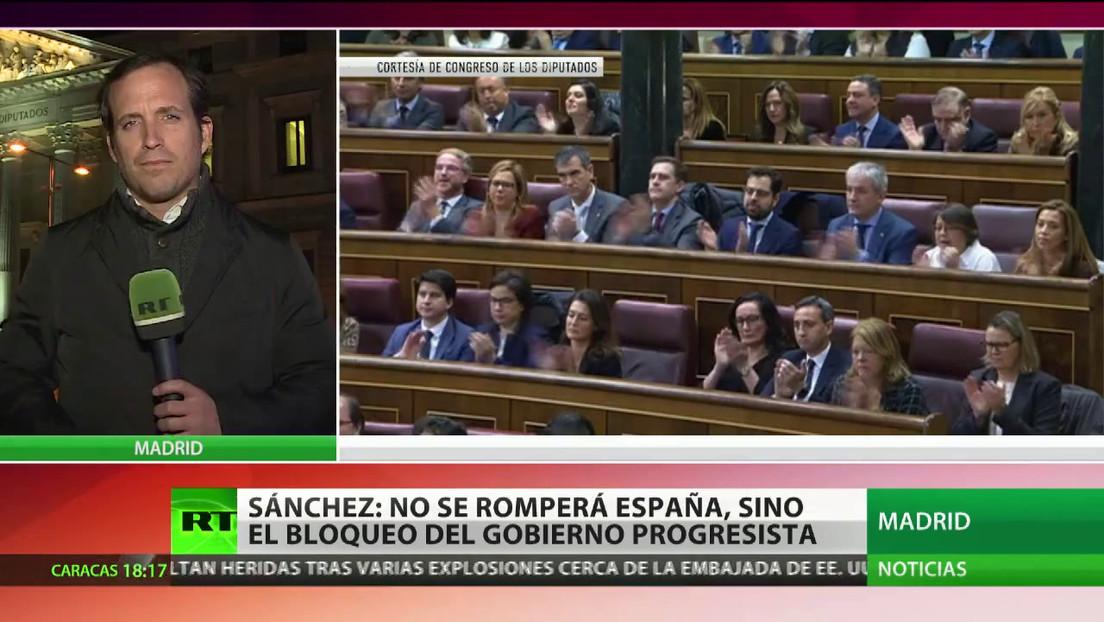"""Sánchez: """"No se romperá España, sino el bloqueo del Gobierno progresista"""""""