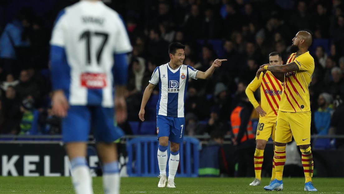 Wu Lei, antiguo recogepelotas de Messi, frustra el trinfo del F.C. Barcelona a tres minutos del final del partido (VIDEO)