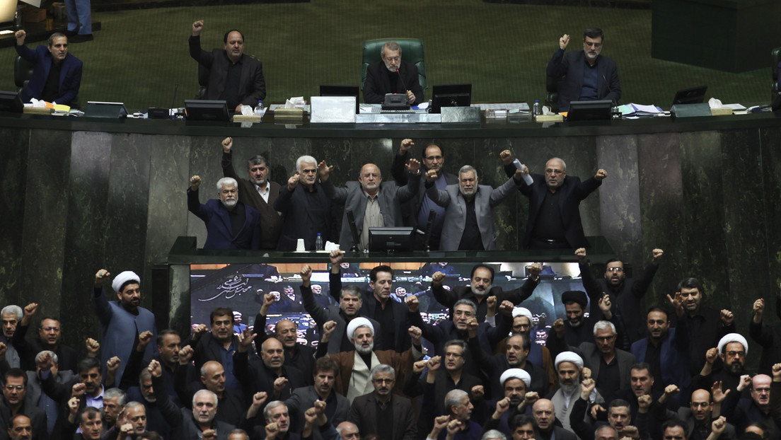 VIDEO: Iranian parliamentarians chant 'Death to the US' during a plenary session in the middle of the national duel for the murder of General Soleimani