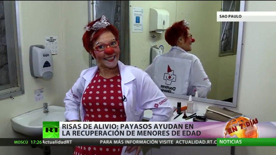 'Risas de alivio': Payasos ayudan en la recuperación de niños en Brasil
