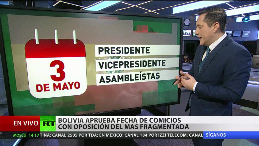 Bolivia aprueba fecha de comicios con la oposición al MAS fragmentada