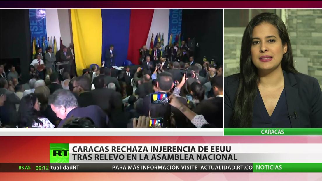 Caracas rechaza la injerencia de EE.UU. tras relevo en la Asamblea Nacional