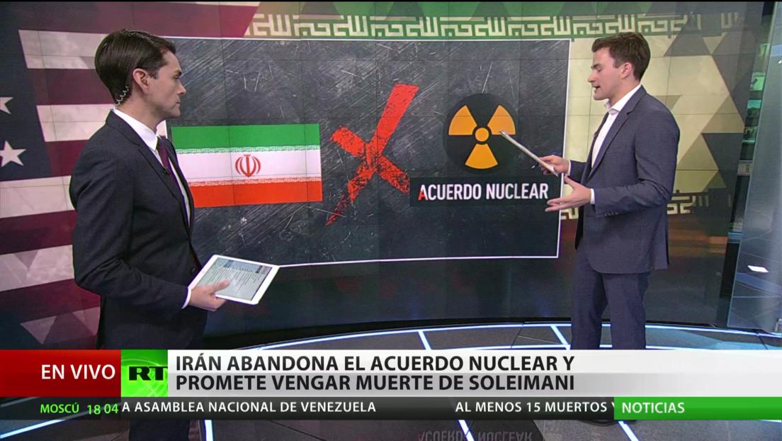 Irán abandona el acuerdo nuclear y promete vengar la muerte de Soleimani