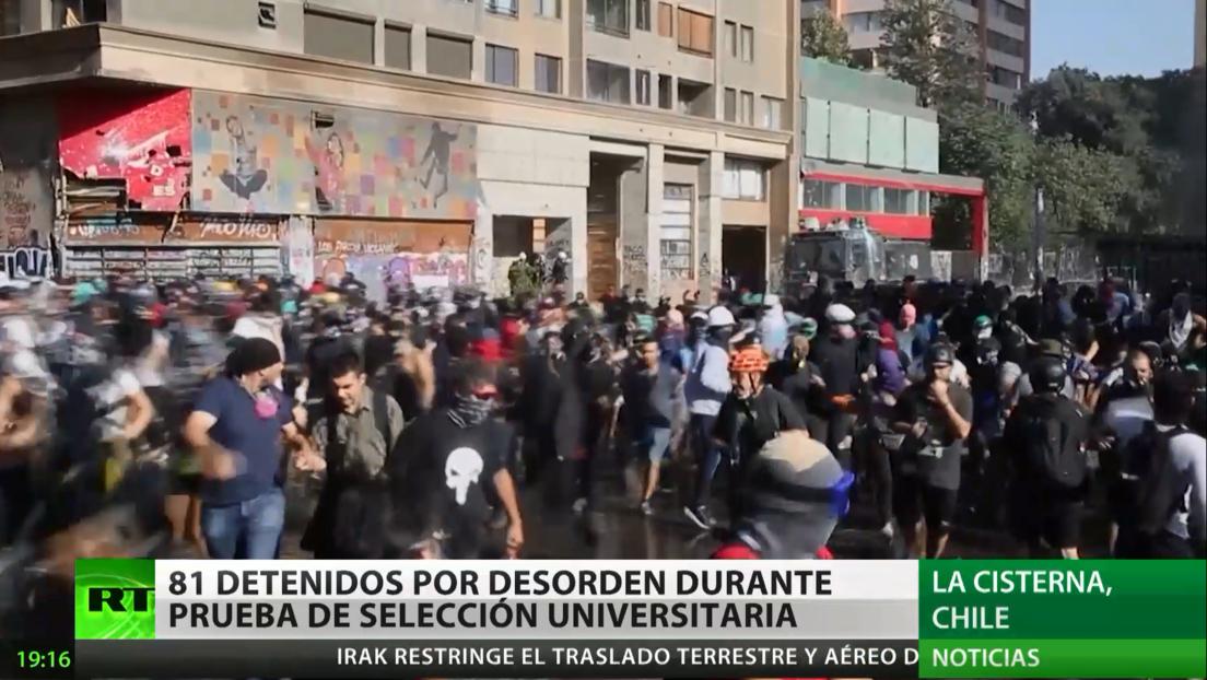 Chile: 81 detenidos por desorden durante la prueba de selección universitaria