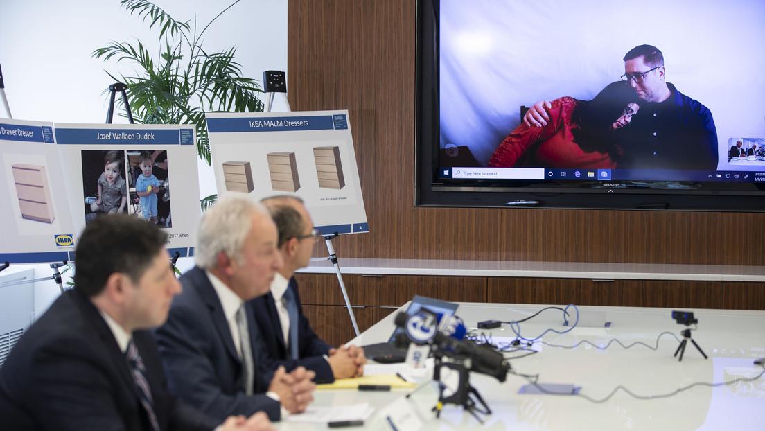 IKEA acuerda pagar 46 millones de dólares por la muerte de un niño de dos años aplastado por uno de sus muebles