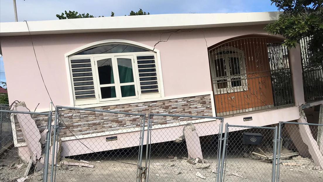 Primeras imágenes: Graves destrozos en Puerto Rico tras un fuerte sismo
