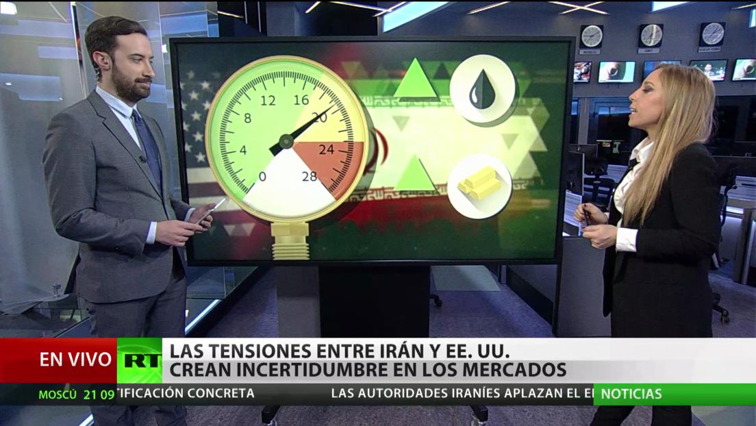 Efecto en los mercados y en los precios del petróleo y del oro de la escalada de tensión entre Iran y EE.UU.