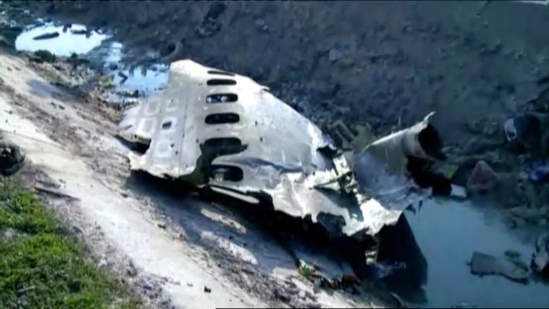 Revelan que el Boeing ucraniano se estrelló por un incendio en el motor
