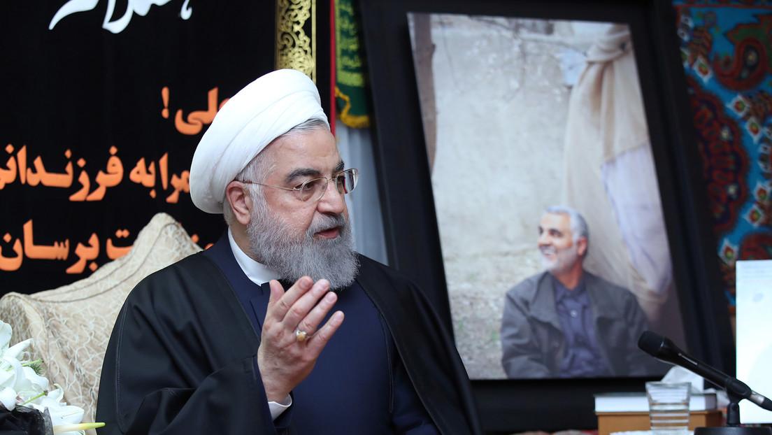 """Rohaní desvela cuál será """"la respuesta final"""" de Irán a EE.UU. por el asesinato de Soleimani"""