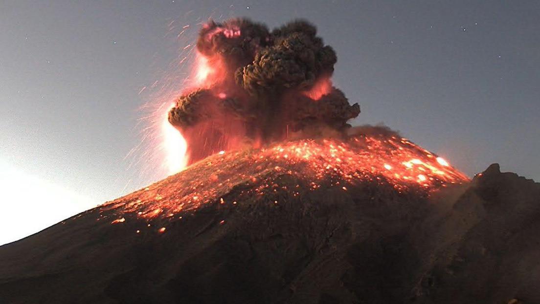VIDEO: El volcán Popocatépetl registra una explosión y las autoridades emiten alerta amarilla