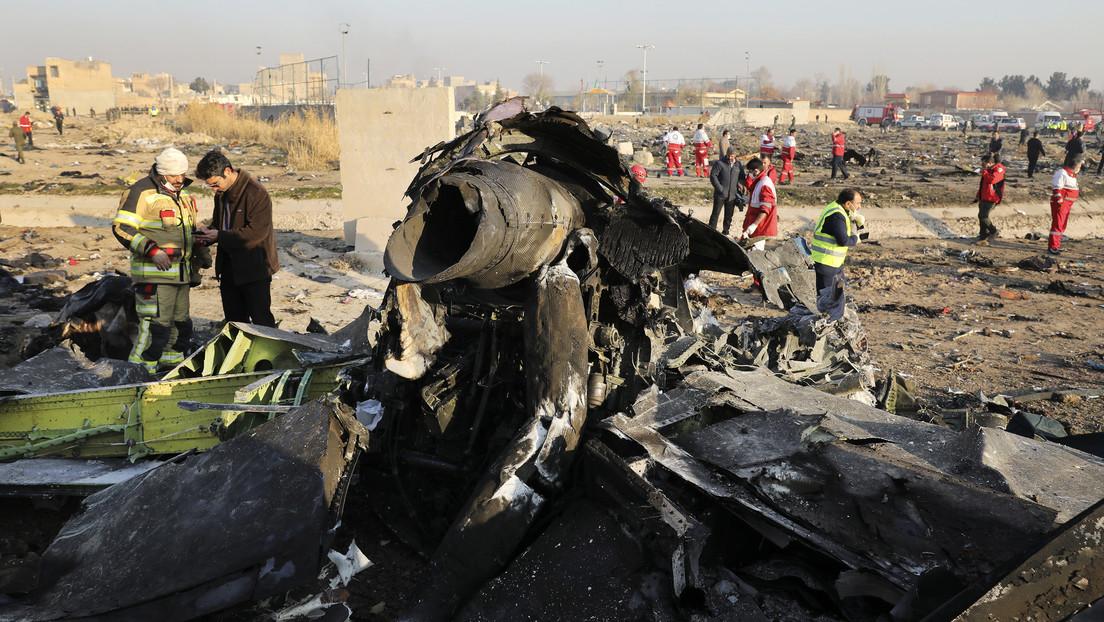 VIDEO: Revelan sobrecogedoras imágenes del momento del accidente aéreo del Boeing ucraniano en Irán